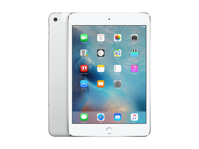 Таблети Apple iPad mini 4 Wi-Fi + Cellular 16GB, сребрист цвят