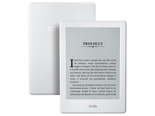 E-reader Amazon Kindle, в бяло