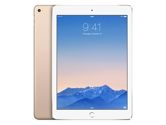 Таблети Apple iPad Air 2 Wi‑Fi + Cellular 128GB, златист цвят